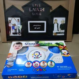Family photo frame and Puku baby food maker
