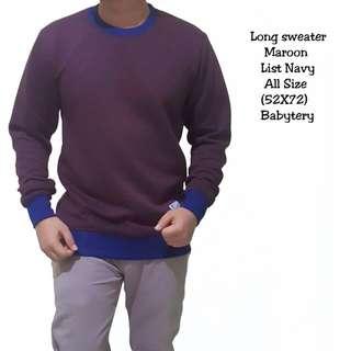 Long sweater marron