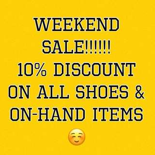 WEEKEND SALE!!!