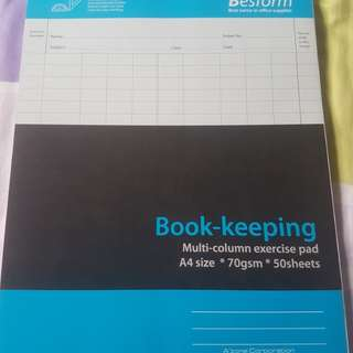 Book keeping pad