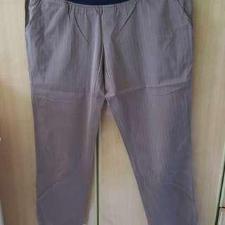 Brown maternity long pant
