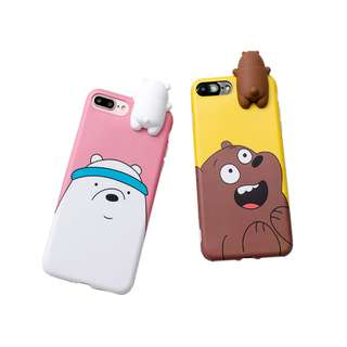 3D Toys Bear Silicone Doll soft TPU case cover iphone 6 6s plus