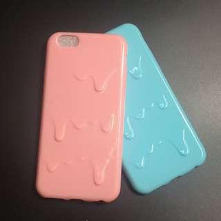 3D Melting ice cream Soft TPU back case cover case Iphone 6 6s plus 7