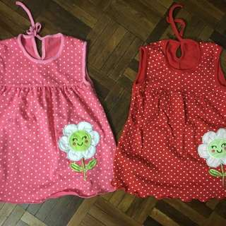 Baby cotton dress 0-6m