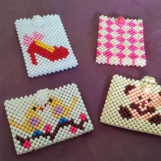 Handmade Beaded Card Holders