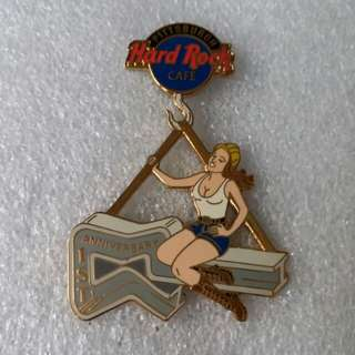 Hard Rock Cafe Pins ~ PITTSBURGH HOT 1ST ANNIVERSARY FEMALE IRON WORKER!