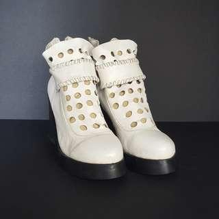 Kawaii White Boots