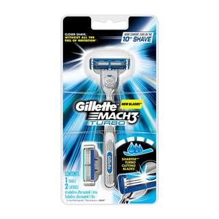 Gillette Mach3 Turbo Razor Plus Razor Cartridges Refill