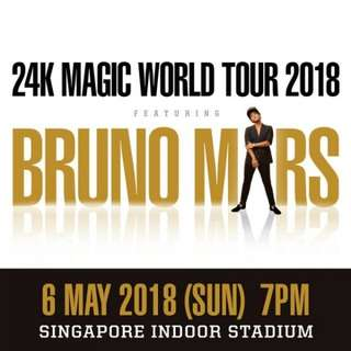 Bruno Mars 24K Magic Tour Singapore