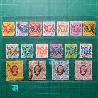 1982 伊莉莎白二世第四組通用票 舊票一套