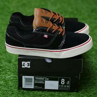 DC TONIK XE BLACK BROWN PREMIUM BNIB MADE IN CHINA BAHAN CANVAS MIX SUEDE, RUBBER SOLE size: 40/41/42/43/44