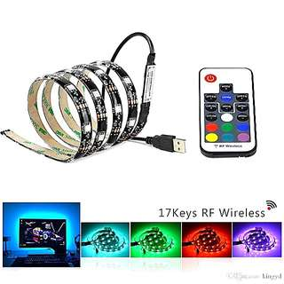Multi colour usb led strip with control