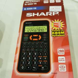 BN SHARP CALCULATOR ACCEPTABLE FOR A LEVEL / O LEVEL / PSLE