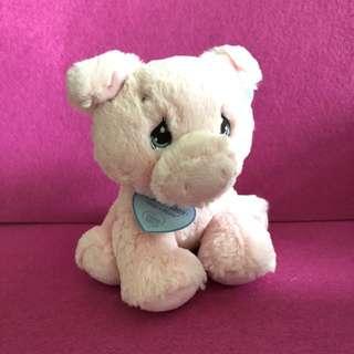 Precious Moments pink piggy  soft toy
