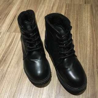 黑短靴(免運)