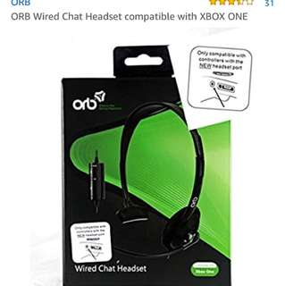 ORB Wired Chat Headset compatible with XBOX ONE