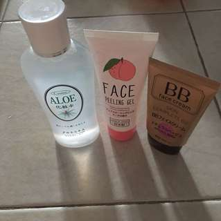 Etude House BB Cream & face peeling off gel (Free give away aloe vera make up water)