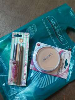 concealer and face powder