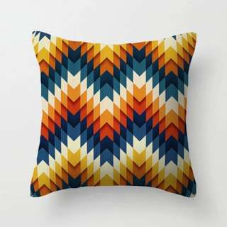 Geometric Chevron Throw Pillow Cushion Cover