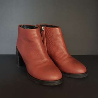 COS Red Boots with Heel Detail