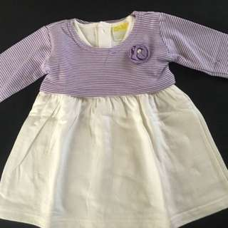 Dress Eyka size 3-6bulan