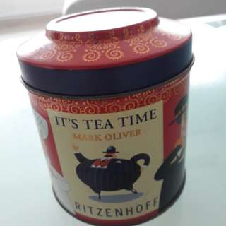 *Rare Vintage Tin ❤ Ritzenhoff EUROPE Tea Canister ❤ Collectible