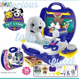 Kids Educational Role Play Set PetStore in Suitcase