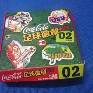 Collection of Coca Cola football badges