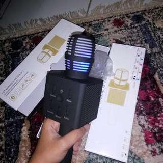 Mic portable Q7 matte black karaokezone microphone