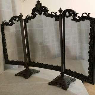 古董錫製座枱鏡檯