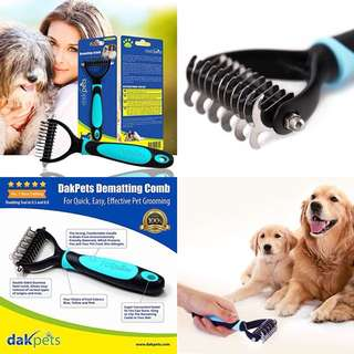 HIGHLY RECOMMENDED!!!! Best Grooming Comb for Dogs and Cats Dematting Deshedding Brush by DakPets