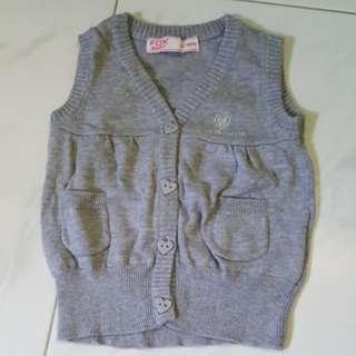 Fox Baby Grey Vest