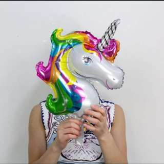 Mini rainbow unicorn balloon