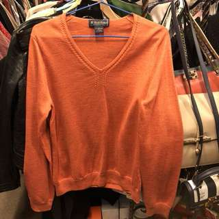 Brooks Brothers orange knit top size L