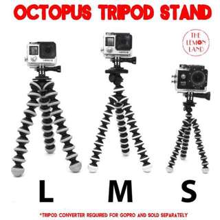 Universal Octopus Tripod For Cameras Small Medium Large Size