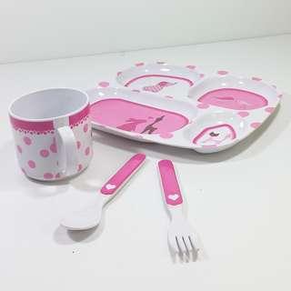 JIP (Netherlands) 兒童餐具套裝 飛機碟, 杯, 刀义JIP Junior Table Ware Compartment plate,tumbler,cutlery