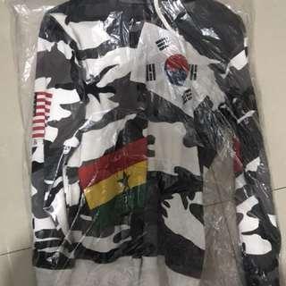 Supreme Flag Pullover Hoodie Camo