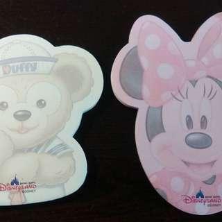 Disney Duffy/ Minnie Memo紙 (100% real)