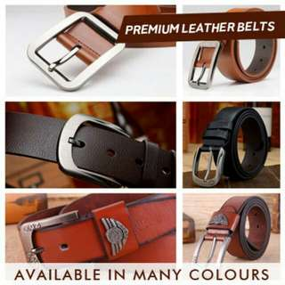 -Free Shipping- Brand New Mens Belt Leather Fashion Waisthigh quality black / brown / red / coffee