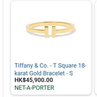 18k Tiffany T Square Bracelet
