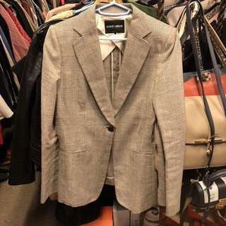 Giorgio Armani brown checkers jacket size 40