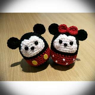 Crochet Mickey & Minnie Mouse Toy Set