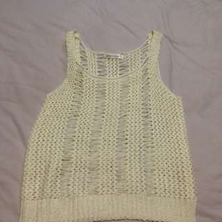 Barely used Cream coloured Crotchet top