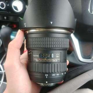 Tokina 12-24mm F4 II wide angle lens (nikon mount)