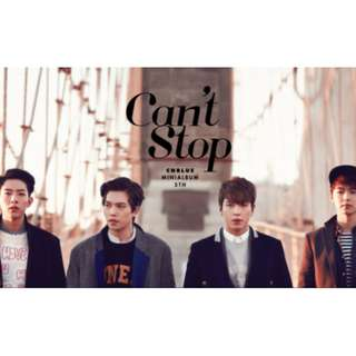 CNBlue Can't Stop Poster (unfolded)