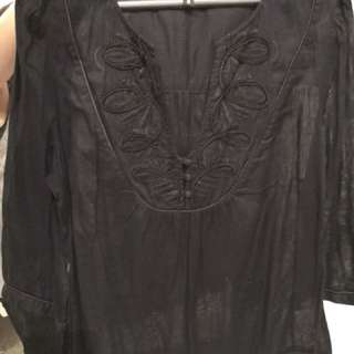 Warehouse Black Blouse