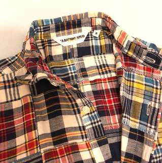 A bathing ape patchwork shirt