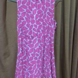 Dress pink leave