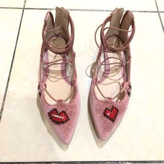 Staccato pink flats