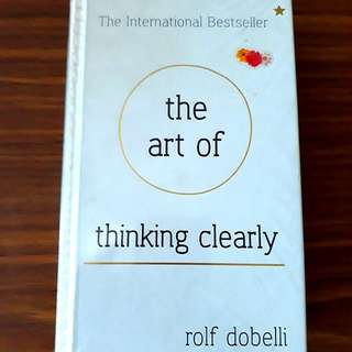 The Art of Thinking Clearly by Rolf Dobelli #Huat50Sale